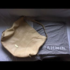 Genuine Leather Brahmin Tote Handbag Bag in Cream